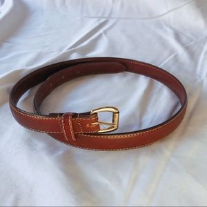 Coach 3916 tan bridle leather & solid brass belt